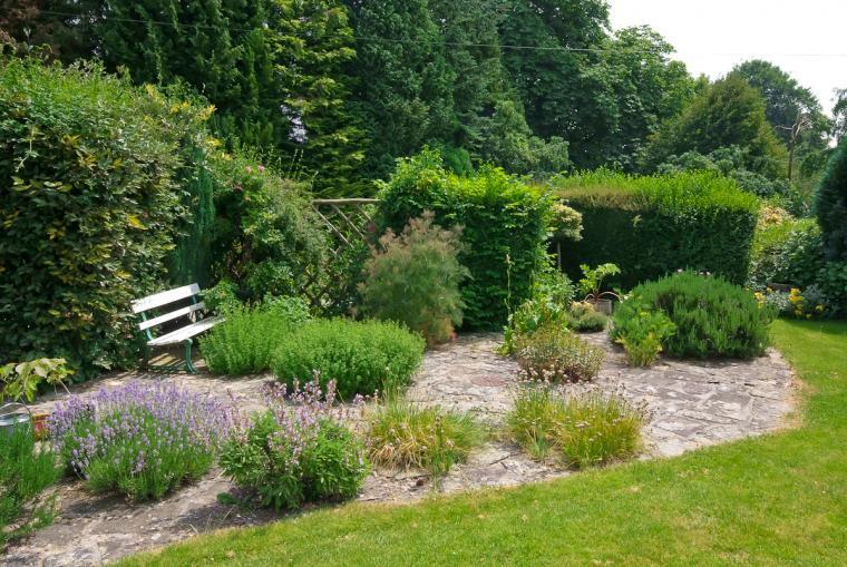 Herb garden at Ludlow Manor House