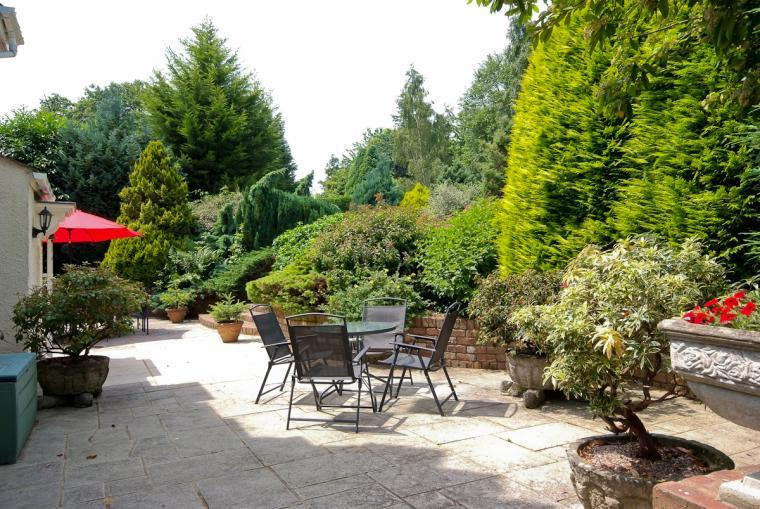 Patio area at Ludlow Manor House