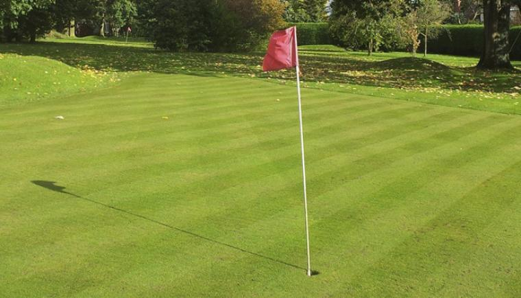 Golf course at ludlow Manor House