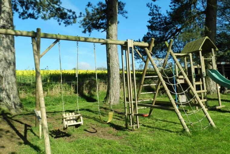 Play area at Ludlow Manor House