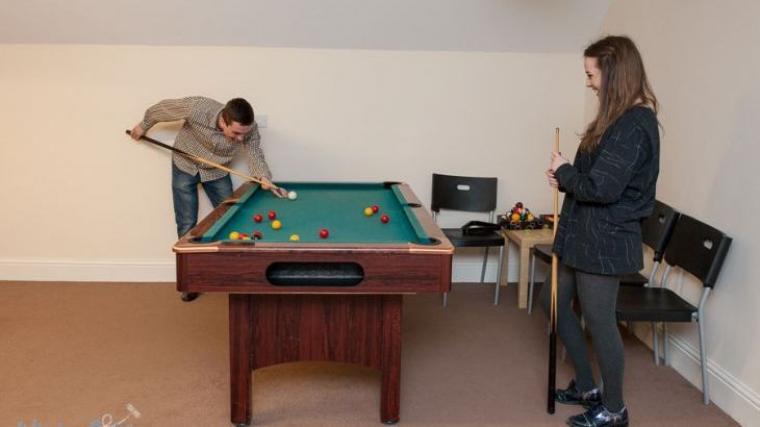 Riverside House's Games room
