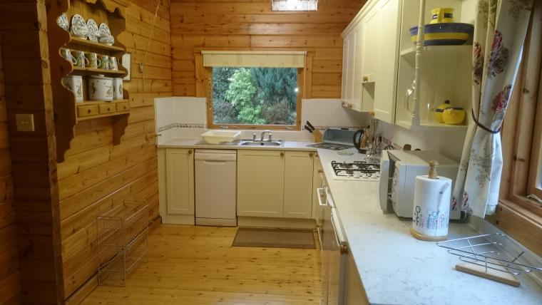 Kitchen in pine lodge