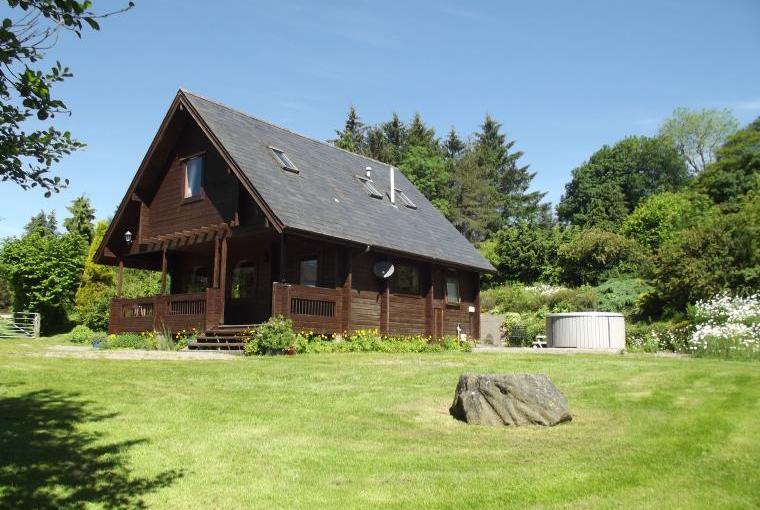 log cabin in wales
