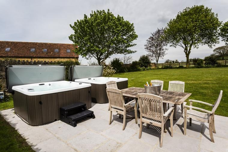 Two private outdoor hot tubs