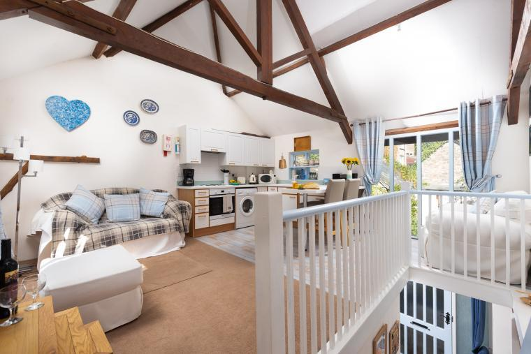 Spacious open plan living space on the first floor