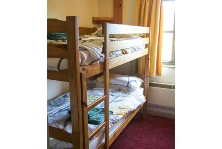 Bedroom with adult bunk beds