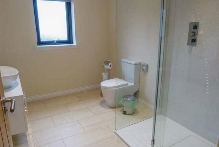 Sleek stylish shower room