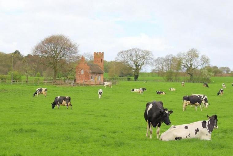 Rural location of the Shooting Folly, Shropshire
