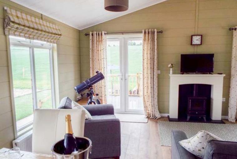 Lounge area, Whitey Top Lodge, Dorset