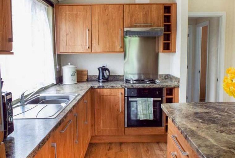 Kitchen area, Whitey Top Lodge, Dorset