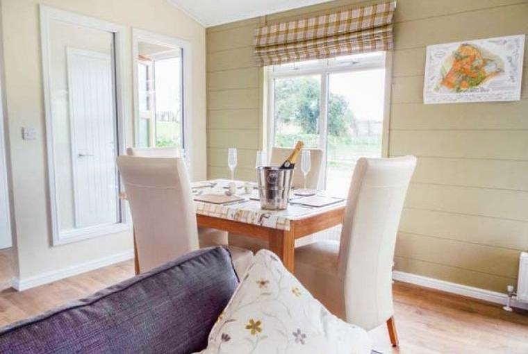 Dining area, Whitey Top Lodge, Dorset