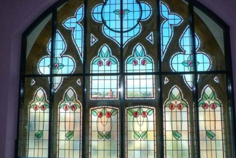 Stained glass windows, Church House, Totland, Isle of Wight