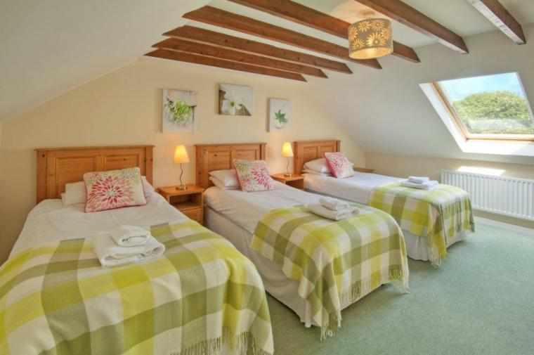 Triple bedroom at Mrs Fordys Cottage