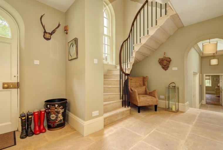 Elegant hallway, Week Farm near Bath