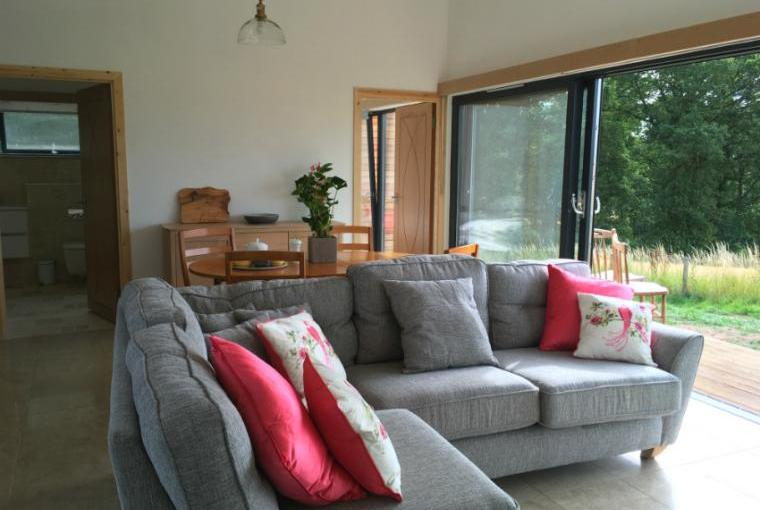 Comfy seating area, Orchard Hideaway
