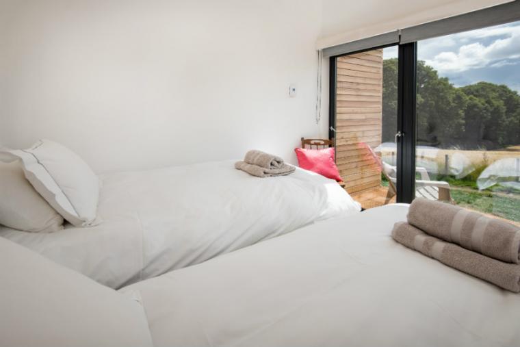 Twin bedroom, Orchard Hideaway, Scottish Borders