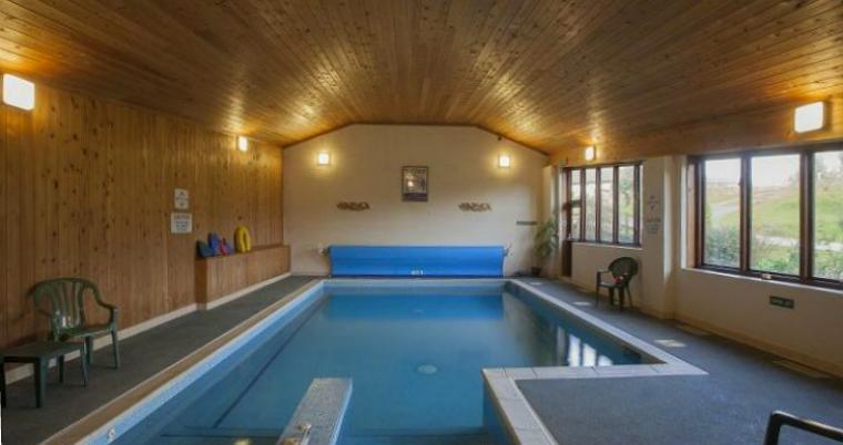 Swimming pool at Luccombe Farm, Dorset