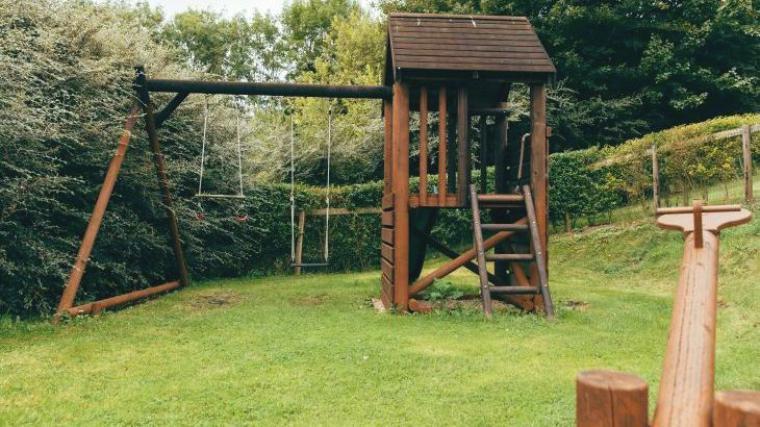 Children's play area, Luccombe Farm, Dorset