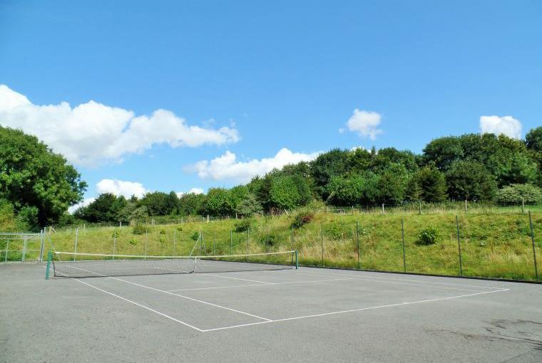 Tennis court, Luccombe Farm, Dorset