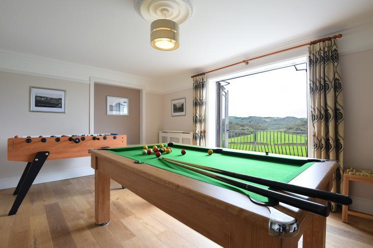 Games room, Llanlliana Country House, Anglesey, Wales