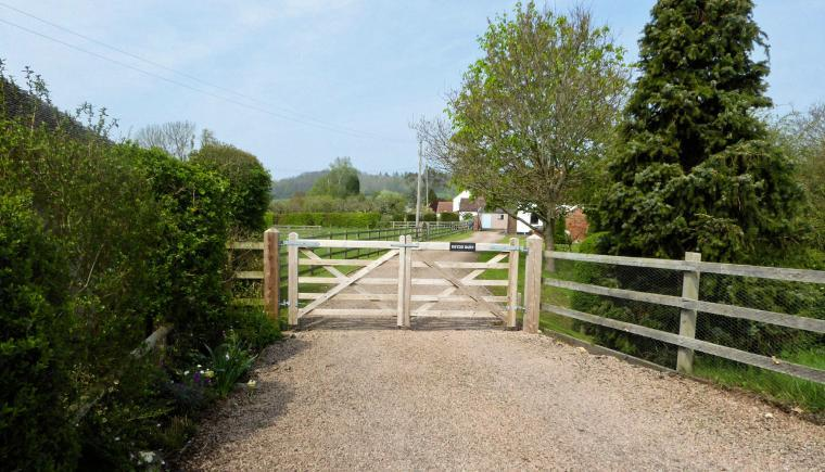 Entrance gate Rhydd Barn near Malvern