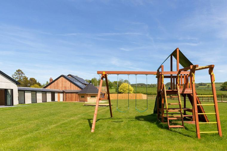 Garden with children's play area, the Shires