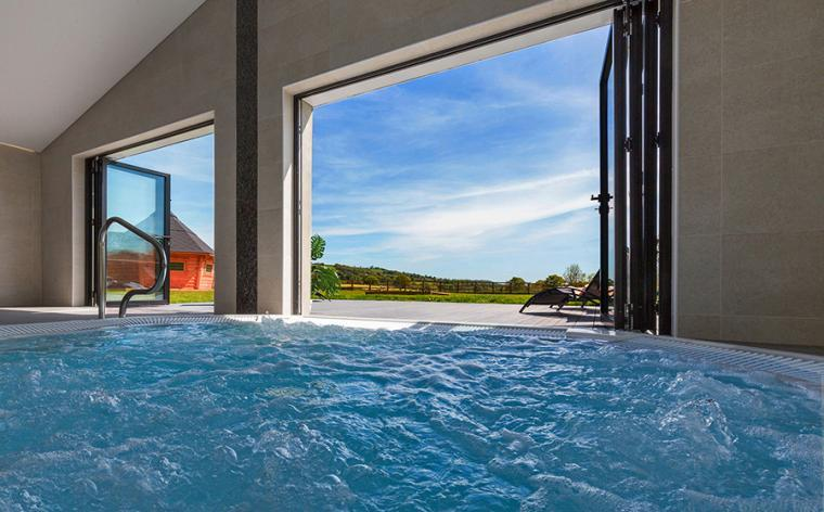 Hot Tub with country views at The Shires