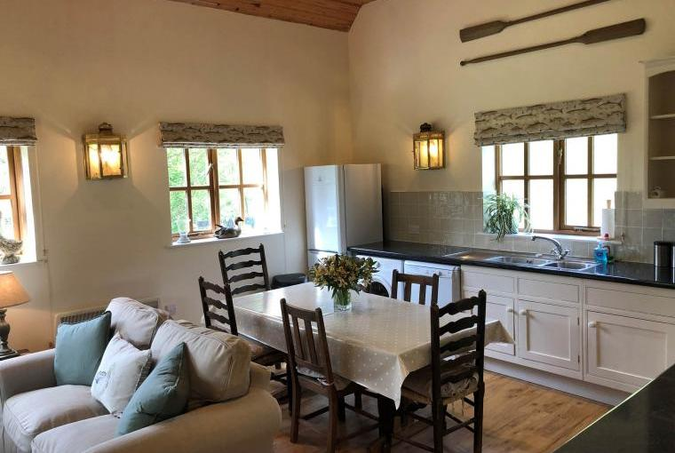 Open plan living at the Fishing Lodge