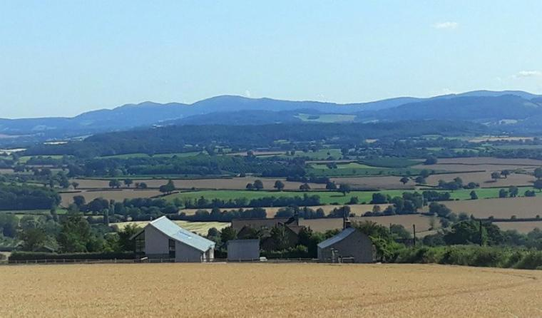 Hill View House with country views out to Malvern Hills