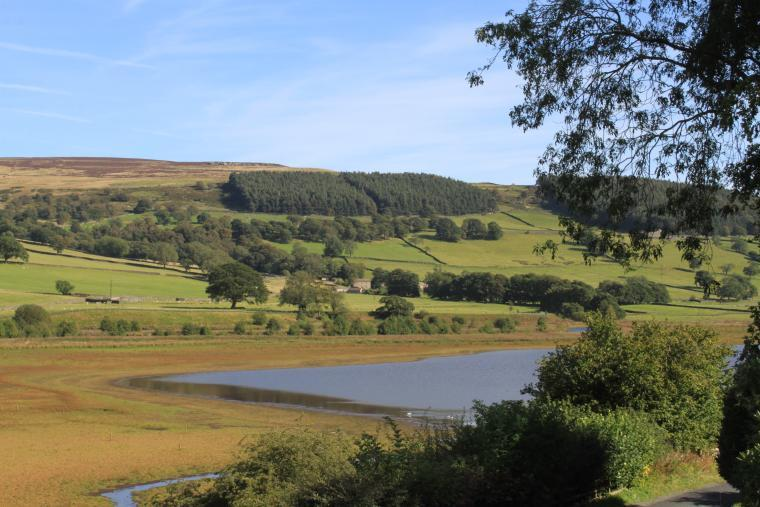 Magnificent valley and reservoir views