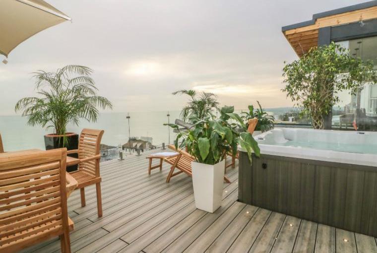 Fabulous decked terrace