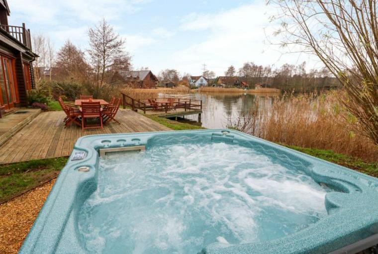 Warm bubbly hot tub