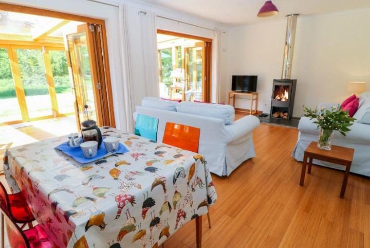 Open plan living area, Lynhays Riverside Cottage