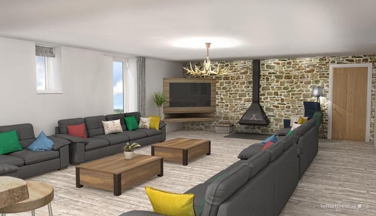 Computer generated images giving an artists impression of the standard of accommodation to be expected at Croftview