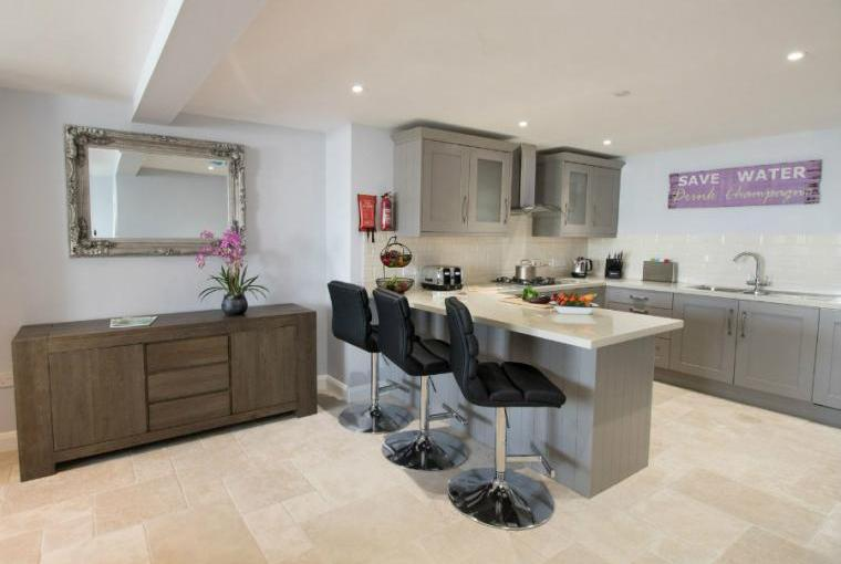 Sleek well equipped kitchen