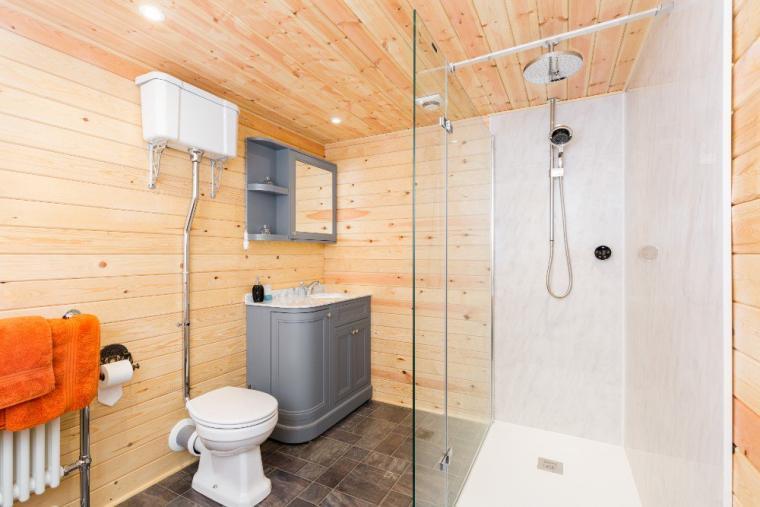 Bathroom with both shower and bath