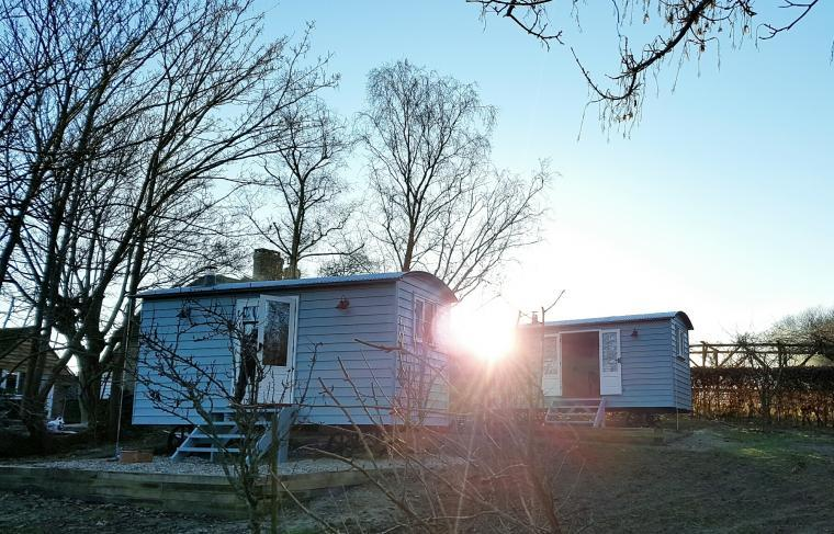 Shepherd Hut accommodation group stays sussex