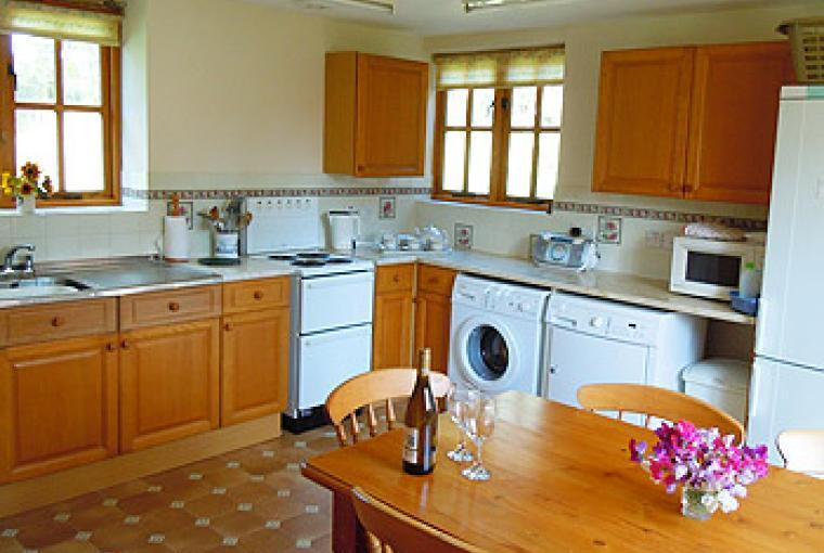 Good kitchen for prepparing meals and snacks on holiday