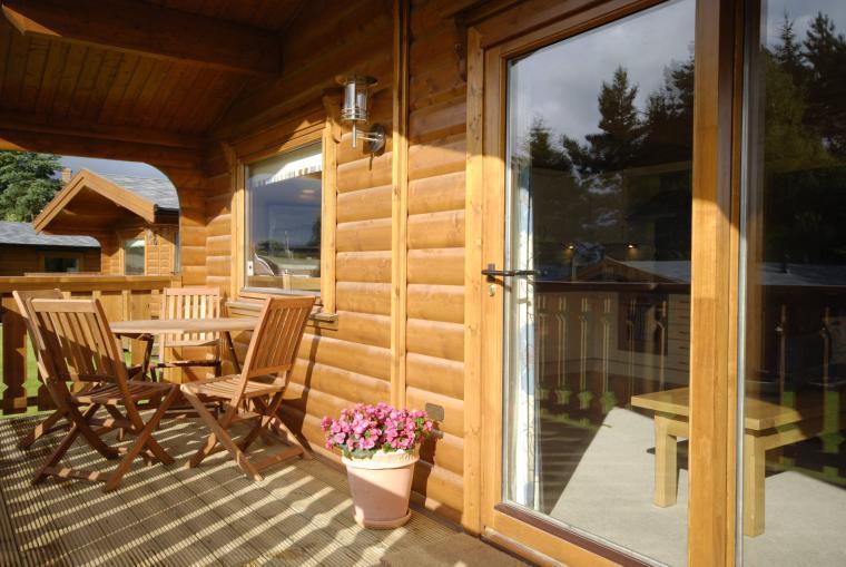 Enjoy sundowners on the lodge balcony