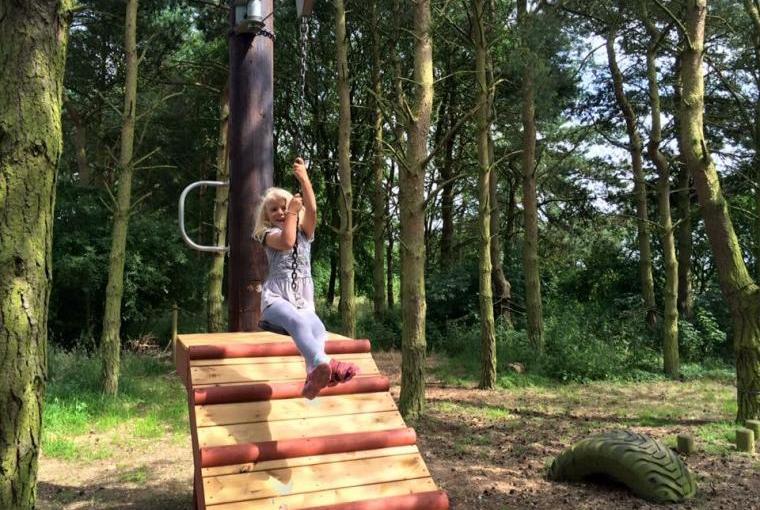 Pine lodges childrens playground Midlands