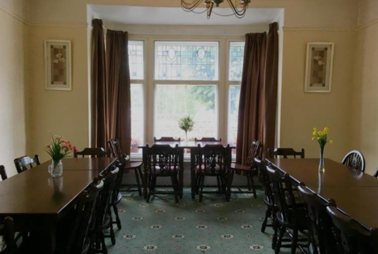 Dining room seating 24