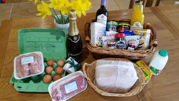 Our fabulous welcome hamper included with every booking