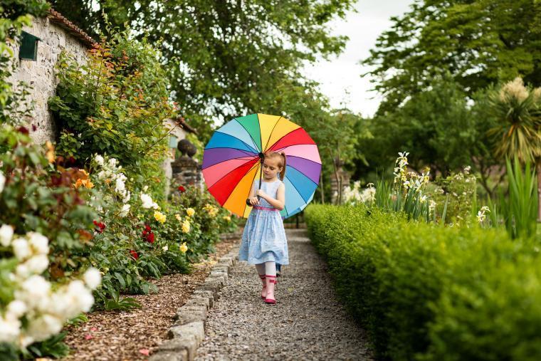 Megan in the main garden