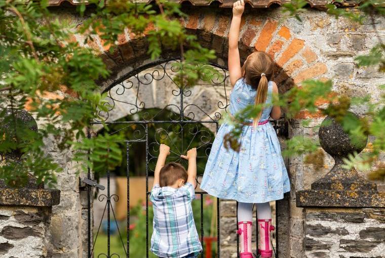 Megan & Lee in the garden