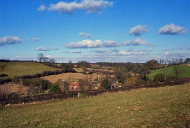 Leicestershire countryside crisscrossed with paths, cycle paths and long distance footpaths