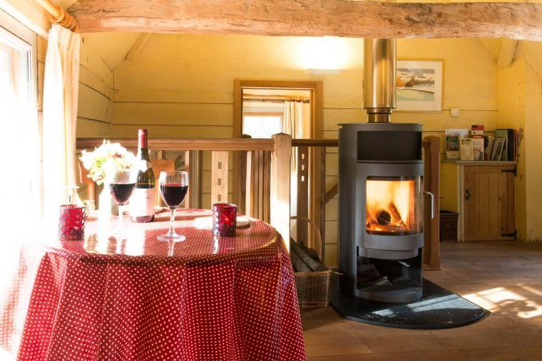 Warming woodburner, Mill Cottage
