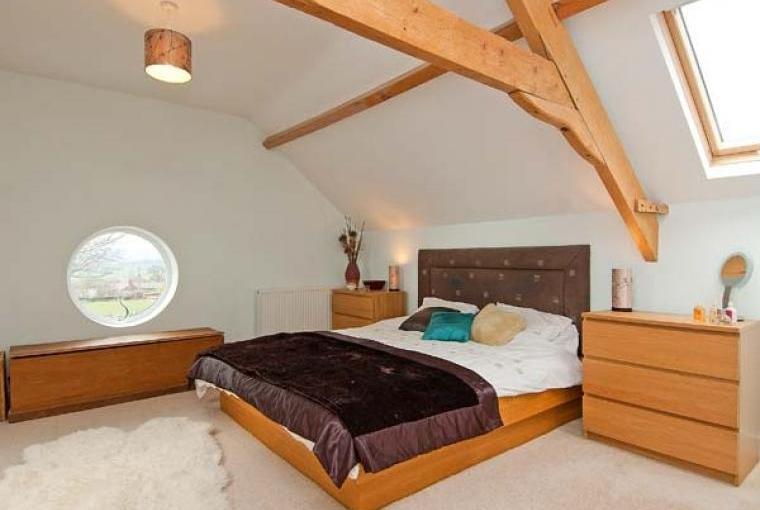 Beautiful beamed bedroom