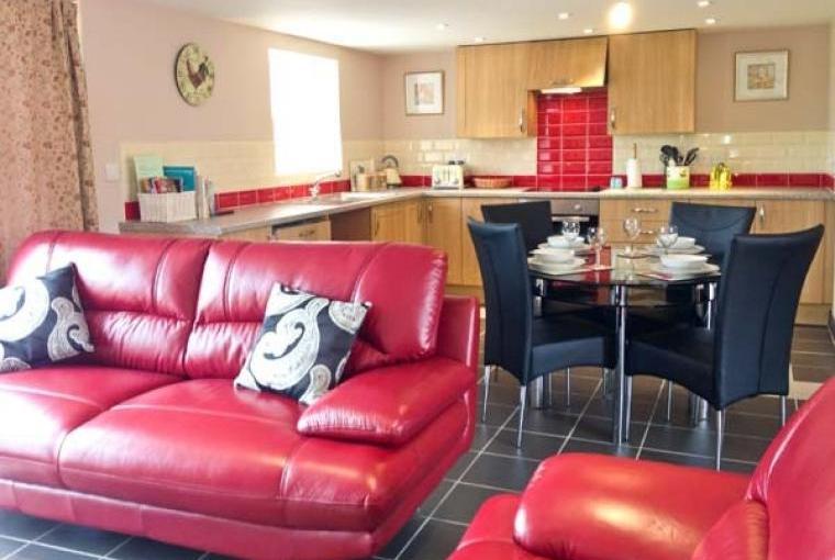 Stylish accommodation, Lakeside Barn, Devon