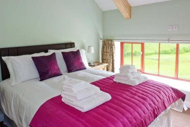 Double bedroom with country views