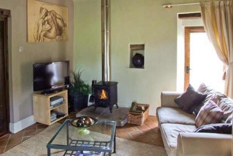 Lounge with woodburning stove